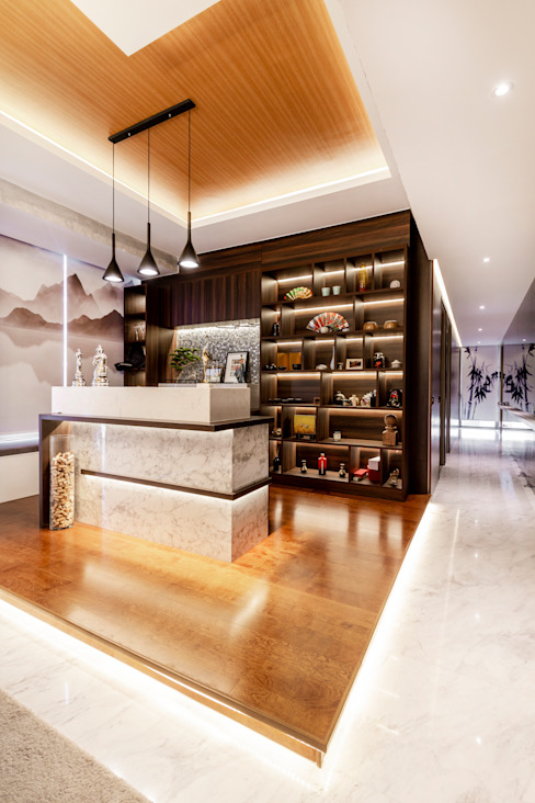 One Robin Asian style dining room by Mr Shopper Studio Pte Ltd Asian