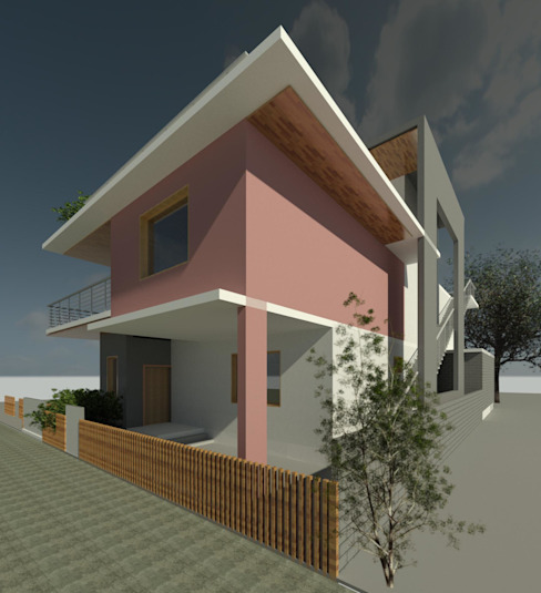 PERSPECTIVE Minimalist houses by Innovature Research and Design Studio (IRDS) Minimalist Bricks