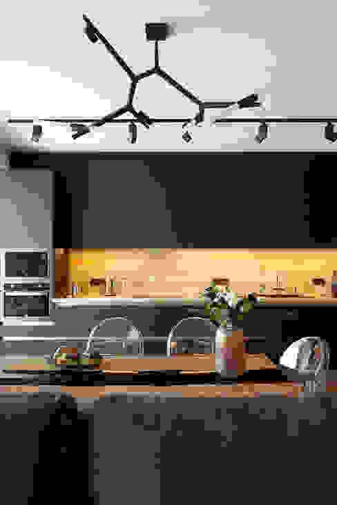 Lares Design Cuisine intégrée Bois Noir
