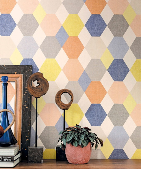 Tường & sàn phong cách chiết trung bởi Carta da parati degli anni 70 Chiết trung