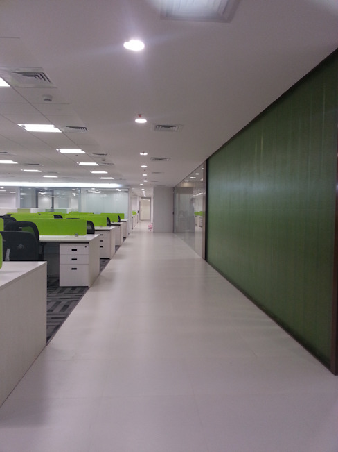 Open Office Work Space S4S Interiors LLP Commercial Spaces