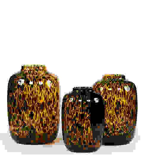 Prachtige leopold vasen in de maten S, M en L van Woodlovesyou&more Eclectisch Glas