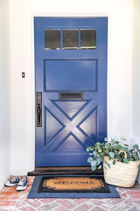 Colorful interior remodel Amy Peltier Interior Design & Home Classic style doors