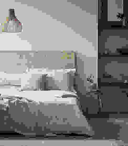 Morris & Co Bedroom Styled for Bedeck Alice Margiotta Rustic style bedroom Grey