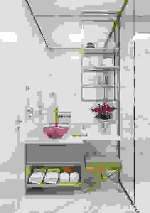 Banheiro Camila Pimenta | Arquitetura + Interiores Banheiros modernos Mármore Bege