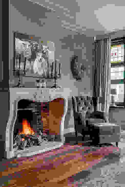 Thunder Sky Fresco lime paint living room Pure & Original Pure & Original Landelijke woonkamers Grijs