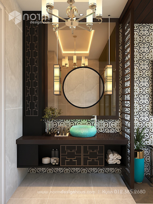 Pavilion Hilltop, Indochine Style Asian style bathrooms by Norm designhaus Asian