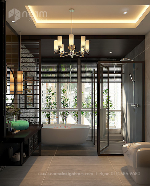 Pavilion Hilltop, Indochine Style Norm designhaus Asian style bathroom