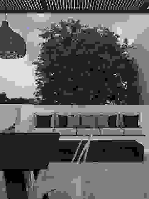 Terraza Astoria Taller Atmósfera Balcones y terrazas eclécticos Madera Blanco