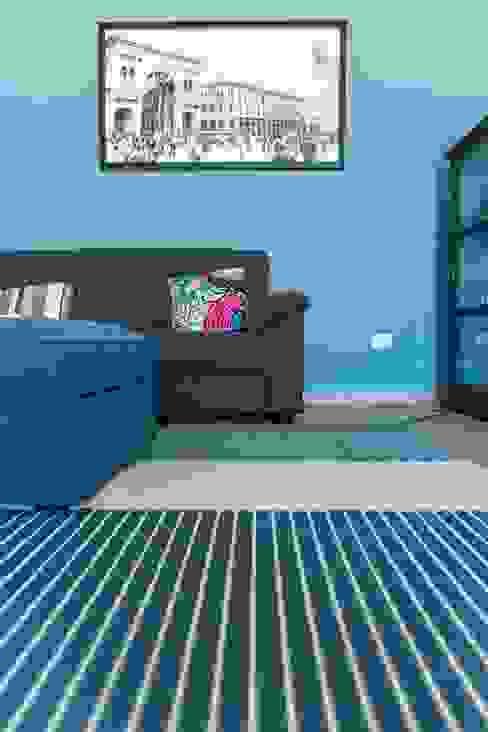 Dettaglio Zona Conversazione Soggiorno moderno di antonio felicetti architettura & interior design Moderno Cemento