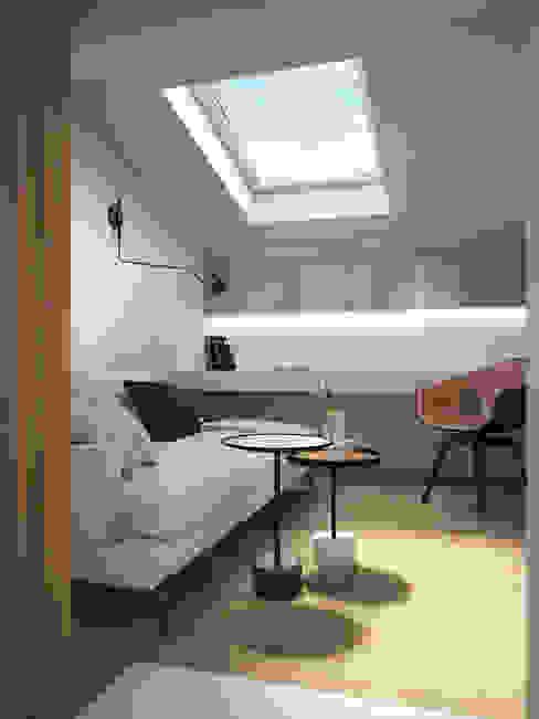 Трехуровневый таунхаус Рабочий кабинет в стиле минимализм от background архитектурная студия Минимализм