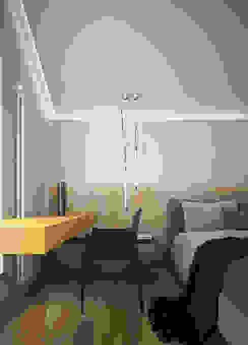 Трехуровневый таунхаус Спальня в стиле минимализм от background архитектурная студия Минимализм