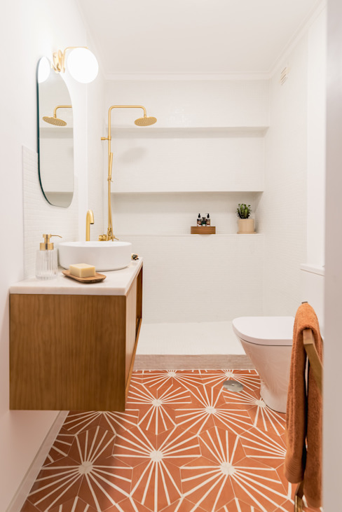 Casas de banho da Casa da Colina Rima Design