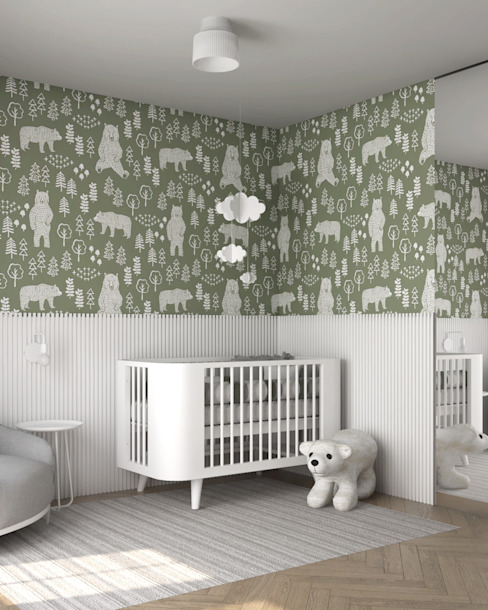 baby bedroom SPARK arquitetura Quartos de bebê Branco