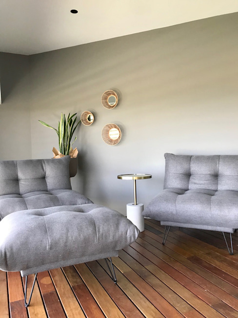 Zona relax para dos Dormitorios de estilo moderno de A interiorismo by Maria Andes Moderno
