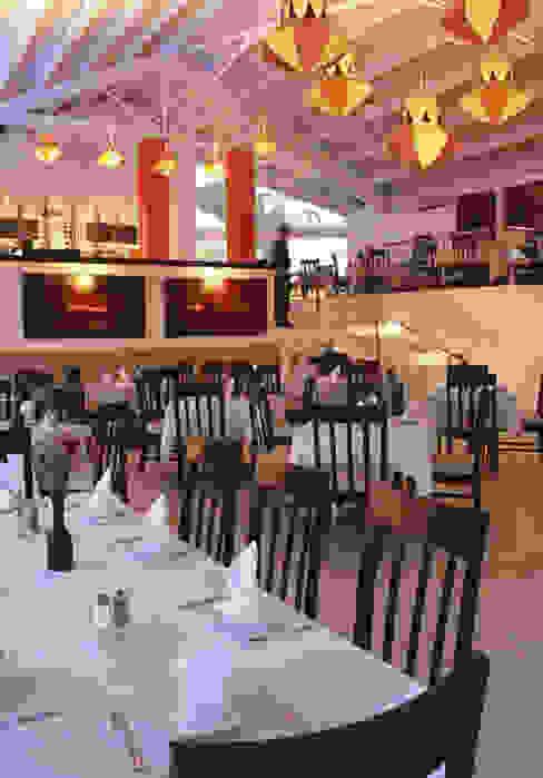 Vista General del Comedor Arechiga y Asociados Comedores asiáticos Cerámico Rojo