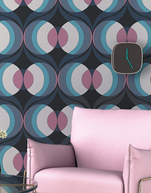 Tường & sàn phong cách hiện đại bởi Carta da parati degli anni 70 Hiện đại