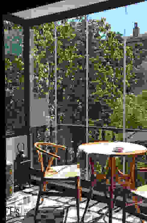 S&O House Balcony CE's Architecture Studio Balkon Matal Czarny