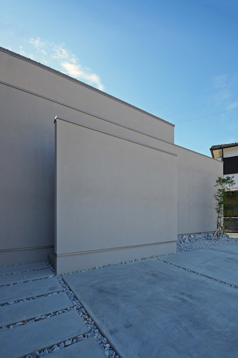 外観 空間建築-傳 木造住宅 灰色