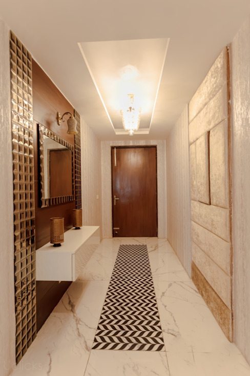 The Magical Entryway Classic style corridor, hallway and stairs by BUILDRAW ASSOCIATES Classic Tiles