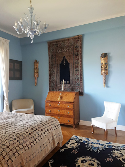 Camera matrimoniale Clointeriors- Claudio Corsetti Camera da letto moderna Blu