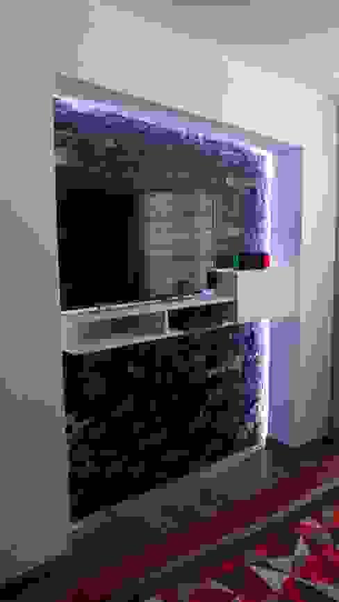 remodelación dormitorio dcmarchitecture Recámaras pequeñas Compuestos de madera y plástico Gris