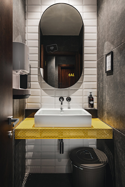 manuarino architettura design comunicazione 餐廳 鐵/鋼 Yellow
