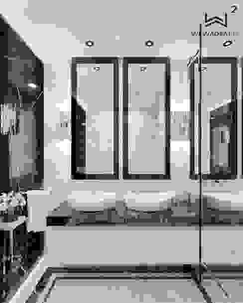 Wkwadrat Architekt Wnętrz Toruń Modern style bathrooms Marble Black