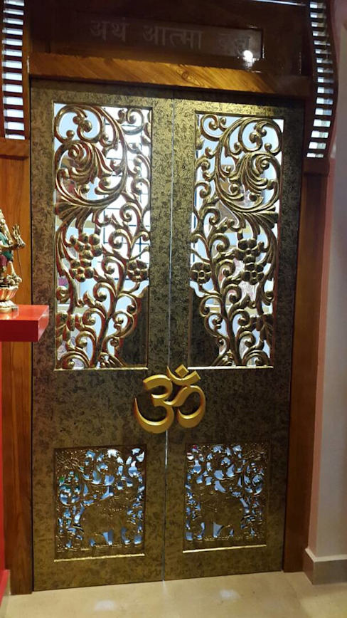 pooja room in all its glory Rnj infratech private limited Modern style doors