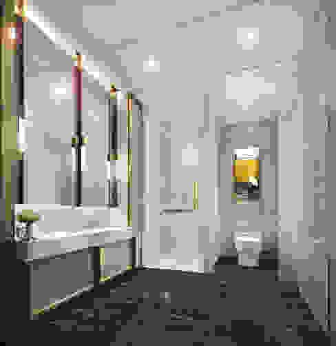 BANYO TASARIMI İNCİ YANARDAĞ İÇMİMARLIK Modern Banyo Mermer