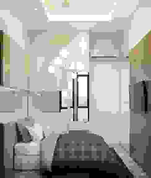The Totnes Condo Modernize Design + Turnkey ห้องนอน Grey