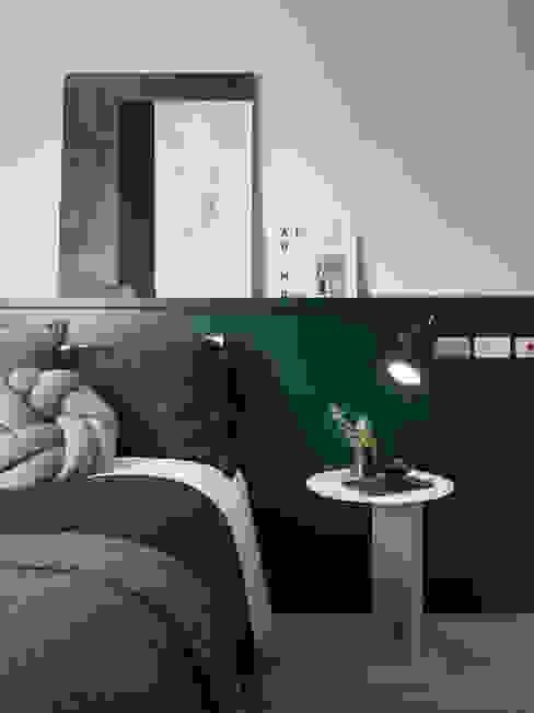 知域設計 Scandinavian style bedroom Green