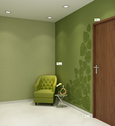Flat interior work Modern corridor, hallway & stairs by Monoceros Interarch Solutions Modern