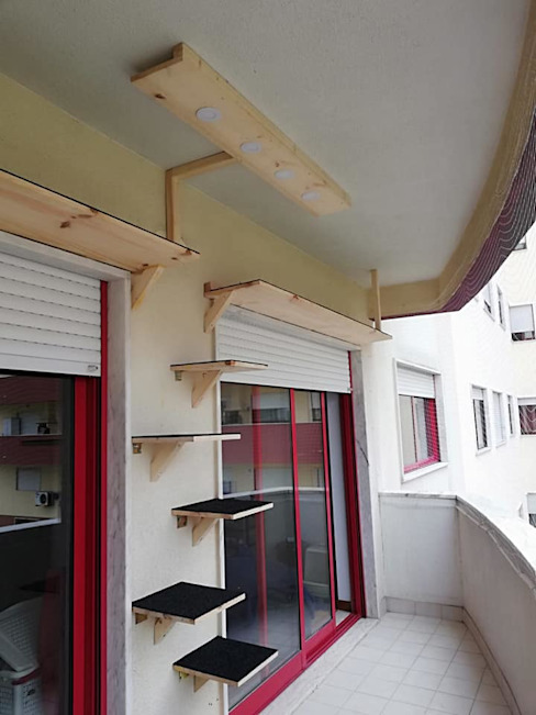 O nosso objectivo: Ginásio para gatos Home 'N Joy Remodelações Varandas Madeira Acabamento em madeira