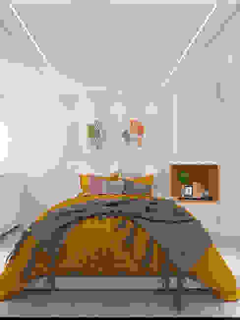 Diaf design Маленькие спальни Желтый