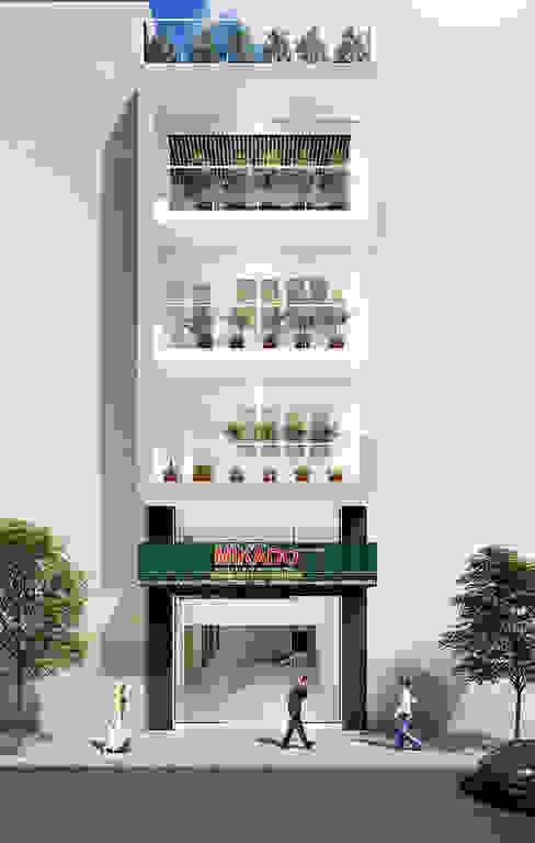 Không gian kiến trúc Công ty TNHH Thiết Kế Xây Dựng Xanh Hoàng Long Mái Gỗ Wood effect
