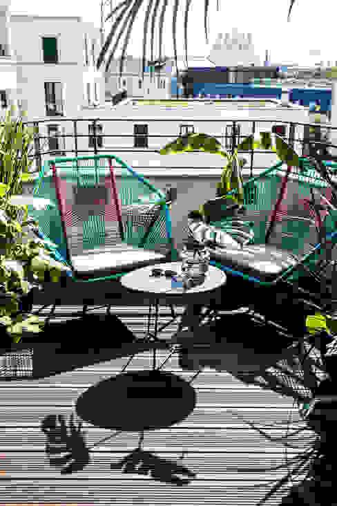 MM STUDIO - INTERIORS BERLIN Balcon, Veranda & Terrasse minimalistes
