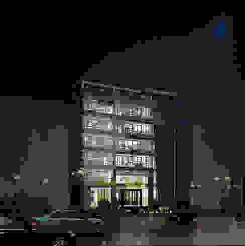 Thiết Kế Kiến Trúc Công ty TNHH Thiết Kế Xây Dựng Xanh Hoàng Long Tòa nhà văn phòng Kim loại White
