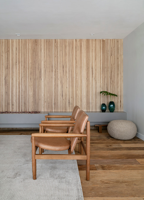 Tons terrosos DCC by Next arquitetura Salas de estar minimalistas Bege