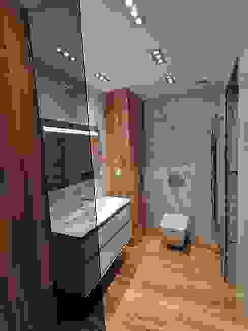 3. Reforma integral de baño David Mateos García Baños de estilo moderno Azulejos Marrón