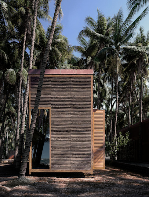 PALMYRA HOUSE DADOMM / Architectural Visualization / Render Wooden houses Wood Wood effect