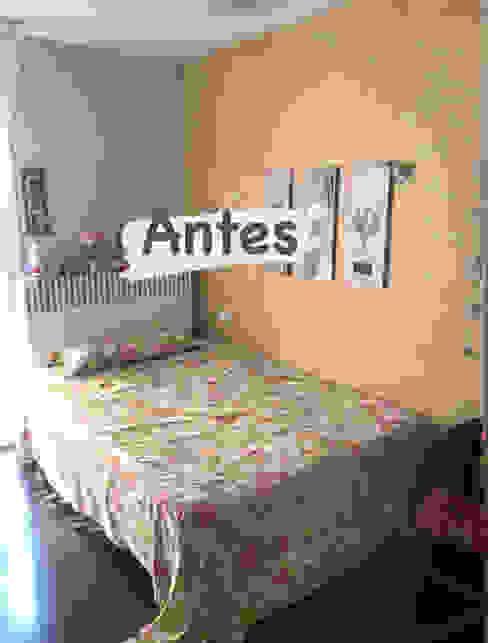 Foto del antes Interiorismo Laura Mas Dormitorios de estilo mediterráneo