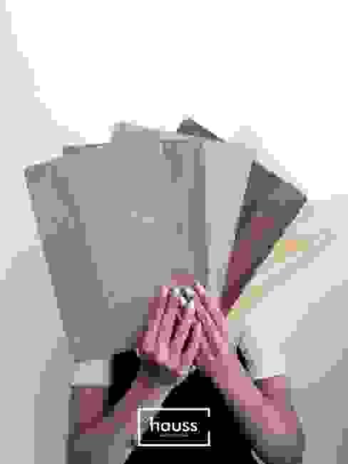 Gabinete de Design & Projeto hauss Escritórios Derivados de madeira