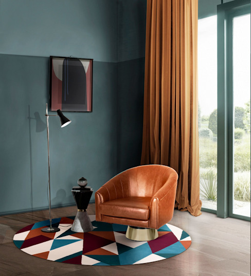 Angolo lettura con mobili eleganti Essential Home Soggiorno moderno