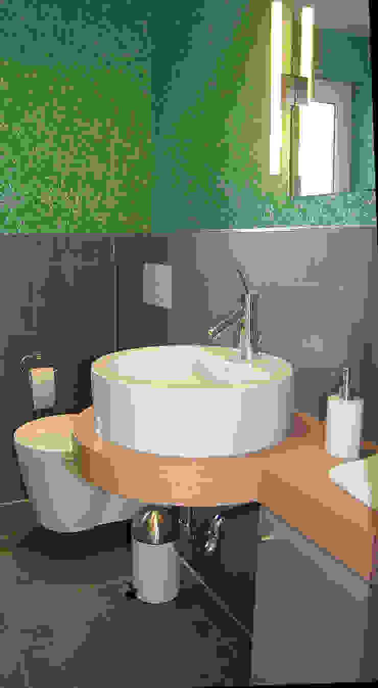Einrichtungsideen 現代浴室設計點子、靈感&圖片