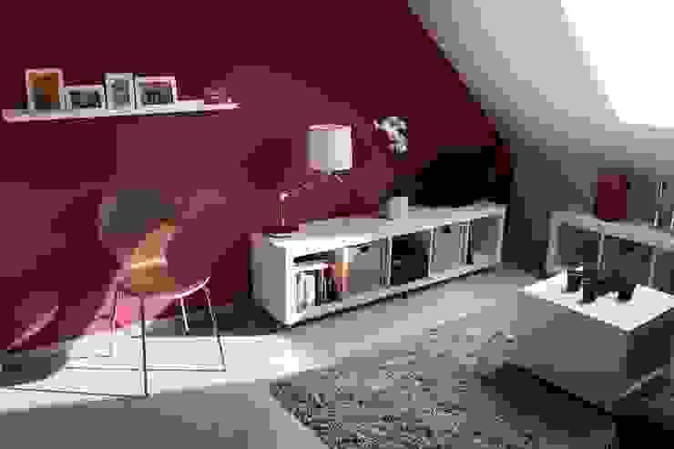Komplette Neugestaltung einer Dachgeschosswohnung Moderne Schlafzimmer von homify Modern