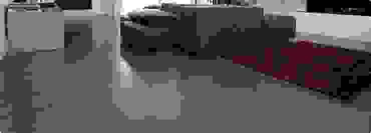 Industrial style living room by Fugenlose mineralische Böden und Wände Industrial
