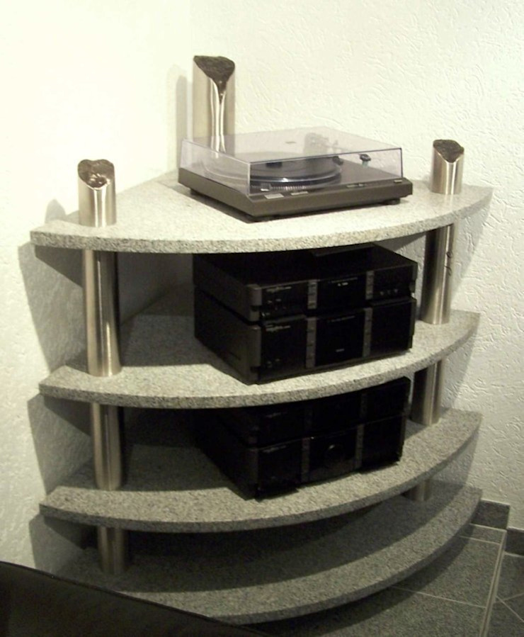 HiFi Rack - Entertainment Rack: modern  von Edelstahl Atelier Crouse:,Modern