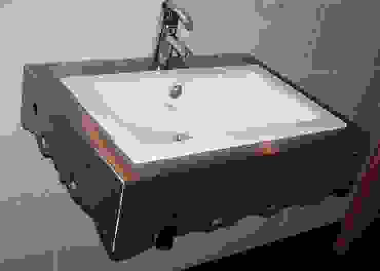 Washbeckenunterkonstruktion: modern  von Edelstahl Atelier Crouse:,Modern