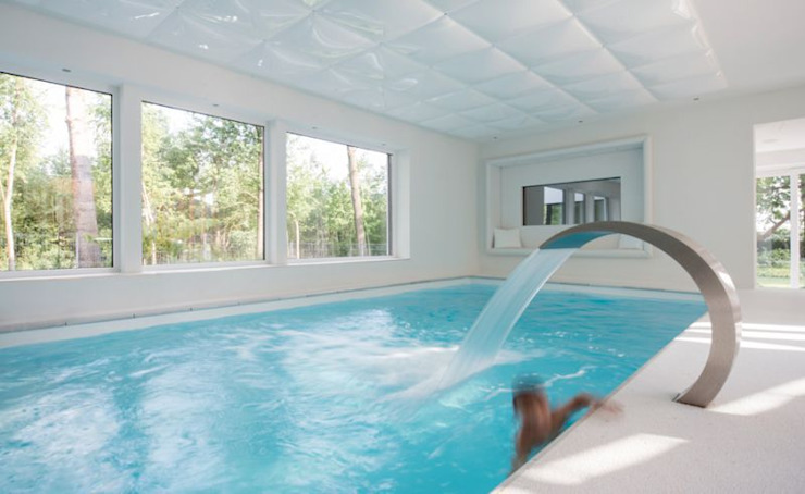 Wohnhauserweiterung D2 [lu:p] Architektur GmbH Moderne Pools